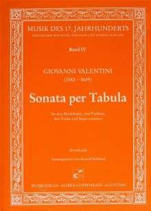 Giovanni Valentini: Sonata per Tabula, Noten