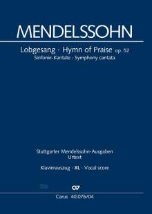 Felix Mendelssohn Bartholdy: Lobgesang (Klavierauszug XL), Noten