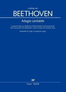 Ludwig van Beethoven: Adagio. Langsame Sätze für Orgel, Noten