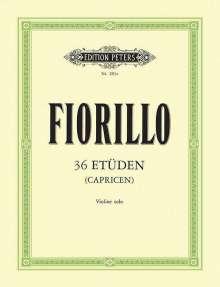 Federigo (Frederico) Fiorillo: 36 Etüden (Capricen) für Violine solo, Noten
