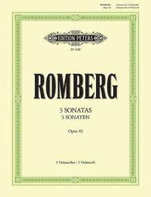 Bernhard Romberg: Sonaten op. 43 Nr. 1-3, Noten