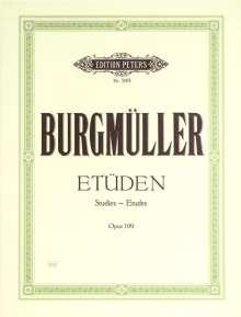 Friedrich Burgmüller: Etüden op. 109, Noten
