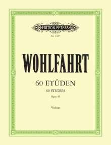 Franz Wohlfahrt: 60 Etüden für Violine solo op. 45, Noten