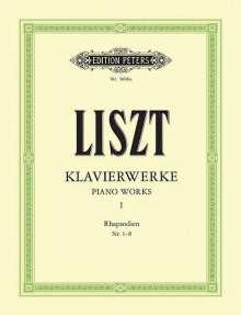 Franz Liszt: Sämtliche Ungarische Rhapsodien, Klavier. Bd.1, Noten