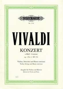 Konzert für Violine, Streicher und Basso continuo a-Moll op. 3 Nr. 6 RV 356, Noten