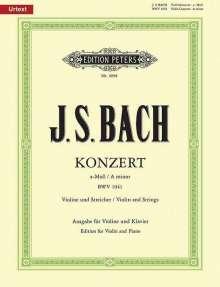 Johann Sebastian Bach: Konzert für Violine, Streicher und Basso continuo a-Moll BWV 1041 / URTEXT, Noten