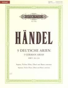 9 Deutsche Arien HWV 202-210 / URTEXT, Noten