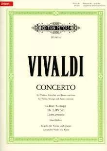 Antonio Vivaldi: Konzert für Violine, Streicher und Basso continuo G-Dur op. 3 Nr. 3 RV 310 / PV 96, Noten