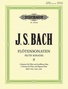 Johann Sebastian Bach: Sonaten für Flöte und bezifferten Bass BWV 1033 - 1035 / URTEXT, Noten