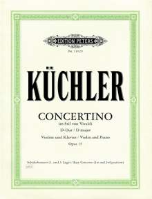 Ferdinand Küchler: Concertino D-Dur op. 15, Noten