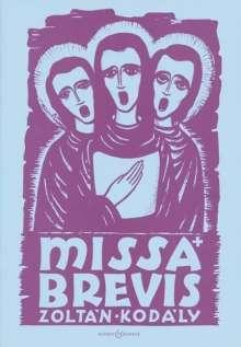 Zoltan Kodaly: Missa Brevis, Noten