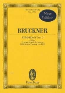Anton Bruckner: Sinfonie Nr. 0  d-Moll, Noten