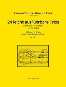 Johann Christian Heinrich Rinck: 24 leicht ausführbare Trios für Orgel op. 20, Noten