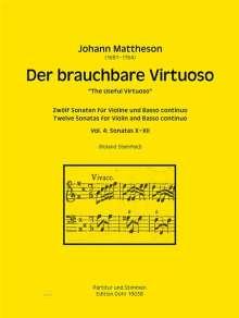 Johann Mattheson: Der brauchbare Virtuoso für Violine und Basso continuo, Noten