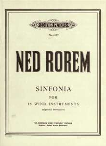 Ned Rorem: Sinfonia for Fifteen Wind Instruments (with Optional Percussion) (1956/1957), Noten