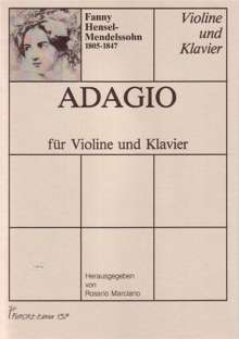 Fanny Mendelssohn-Hensel: Adagio (1823), Noten