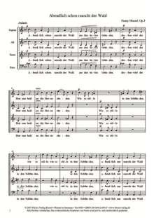 Weltliche a-cappella-Chöre von 1846, Heft 1, Noten