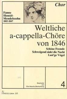 Weltliche a-cappella-Chöre von 1846, Heft 4, Noten