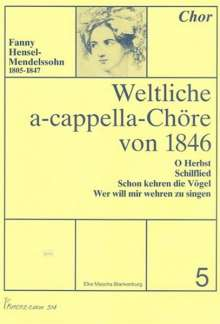 Weltliche a-cappella-Chöre von 1846, Heft 5, Noten