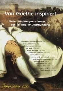 Von Goethe inspiriert, Noten