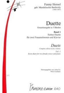 Duette (1829/36/40), Noten