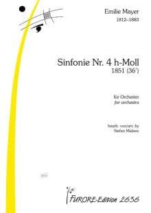 Emilie Mayer: Symphonie Nr. 4 h-Moll für Orchester, Noten
